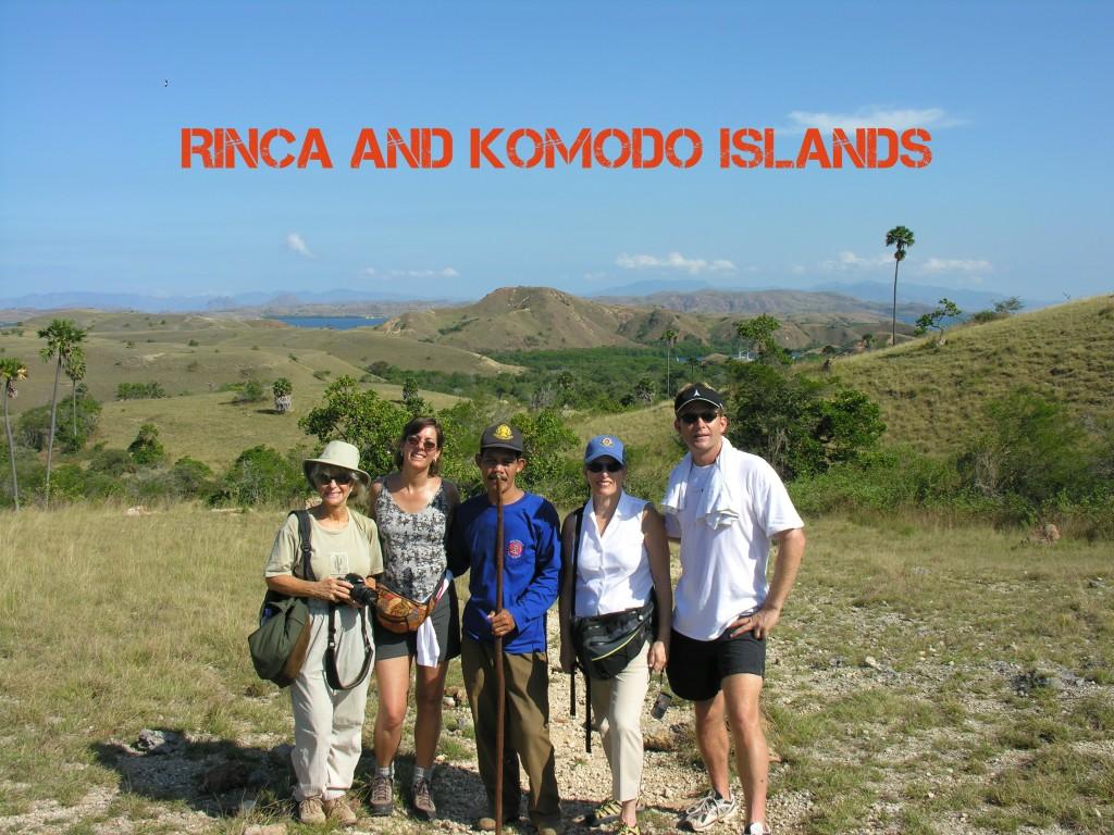 Rinca island and komodo dragon