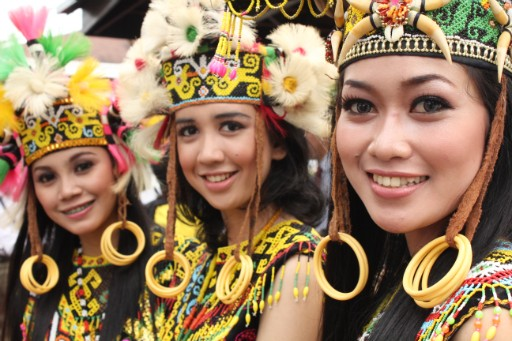 Dayak women on Sumatra